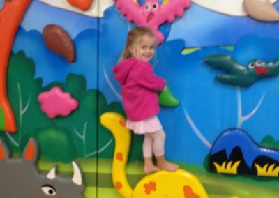 Climbing the walls is fun at JoJo's!
